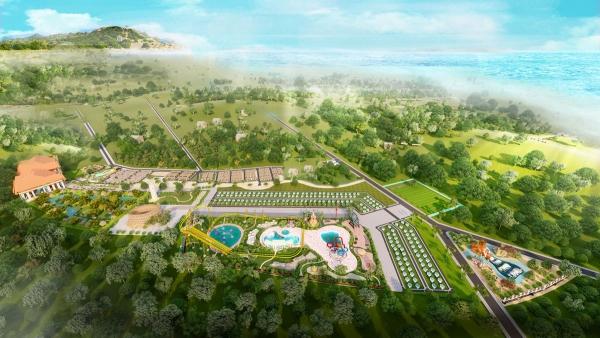 Phối cảnh tổng thể dự án biệt thự Eco Bangkok Villas Bình Châu