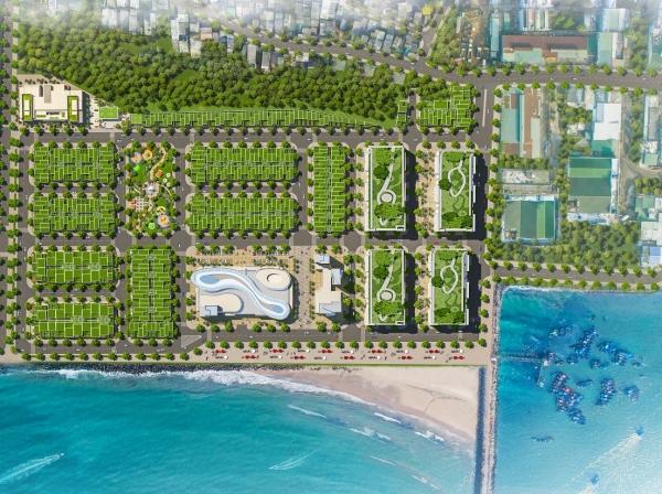 Mặt bằng tổng thể dự án khu phức hợp Queen Pearl Marina Complex