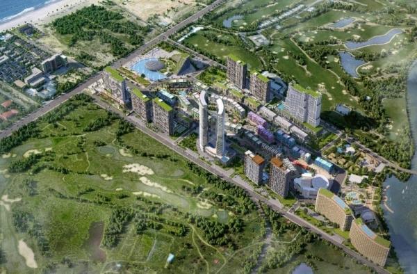 Phối cảnh tổng thể khu du lịch nghỉ dưỡng Hải Giang Mery Land Quy Nhơn