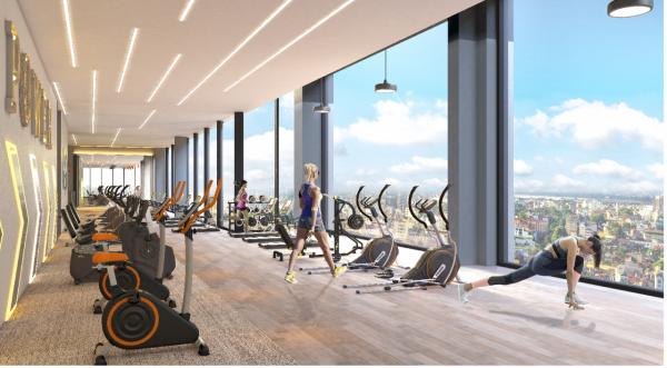 Phối cảnh khu tập gym trong dự án căn hộ The Zei Mỹ Đình