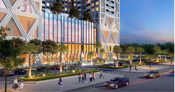 Phối cảnh khối đế trung tâm thương mại của dự án căn hộ The Zei Mỹ Đình