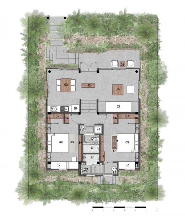 Mặt bằng căn biệt thự Casa Garden Hill điển hình