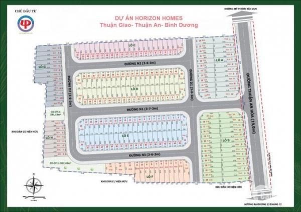 Mặt bằng phân lô dự án khu dân cư Horizon Homes Bình Dương