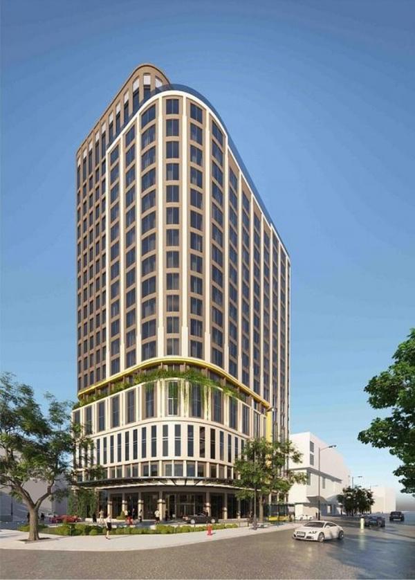 Phối cảnh tòa khách sạn 4 sao thuộc tổ hợp Sense City – Co.opmart tại Cần Thơ