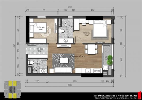 Tòa nhà căn hộ CT2 – Iris Garden Hà Nội