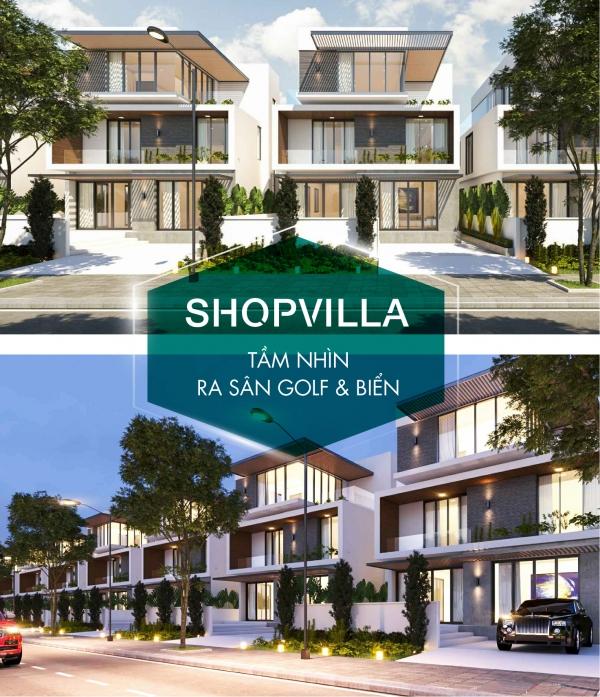 Phối cảnh các căn shopvilla điển hình phân khu Miami với tầm nhìn hướng sân golf và hướng biển