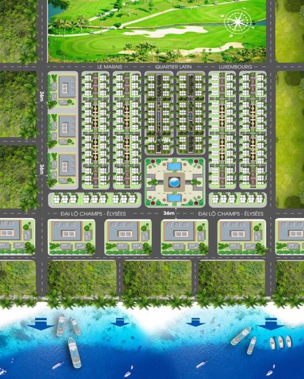 Mặt bằng tổng thể dự án khu biệt thự Sonasea Paris Villas