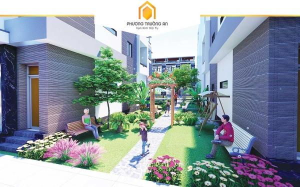 Phối cảnh công viên nội khu tạo không gian xanh mát cho khu đô thị Phương Trường An