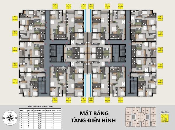 Dong Bac Tower, mat bang Dong Bac Tower, Dong Bac Tower thanh hoa
