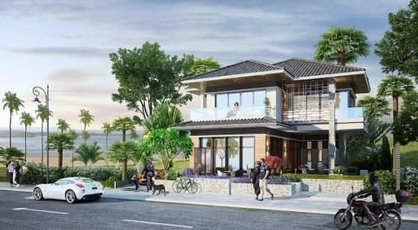 Phối cảnh biệt thự tại dự án Diamond Bay Phan Thiết