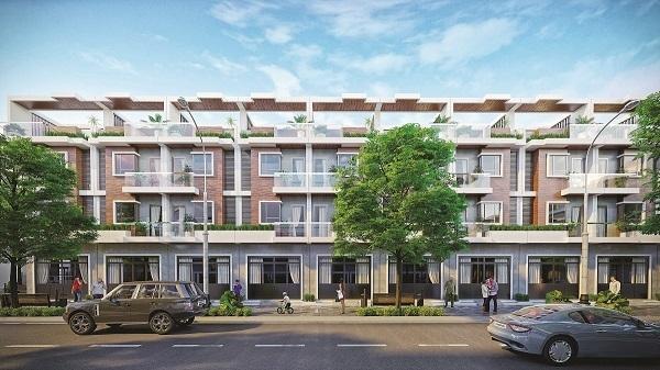 Phối cảnh các căn nhà phố thương mại dự án Mango City Cam Lâm