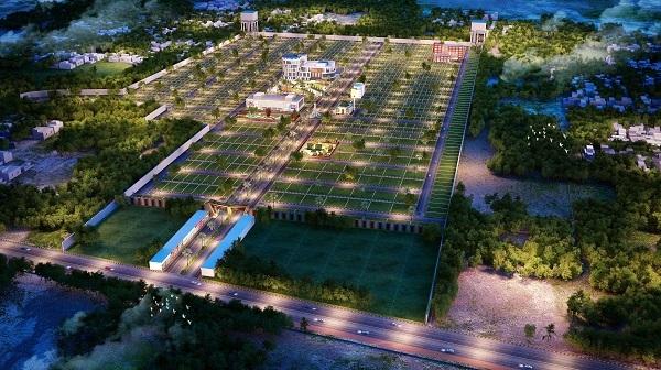 Phối cảnh toàn khu đã được tích hợp các tiện ích đi kèm tại dự án đất nền Mango City Cam Lâm