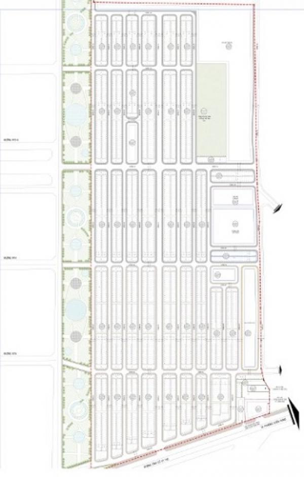Mặt bằng tổng thể khu dân cư dự án City Land Bình Dương