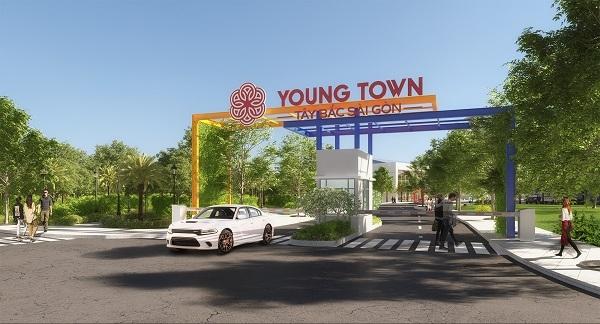 Phối cảnh cổng chào dự án Young Town Tây Bắc Sài Gòn
