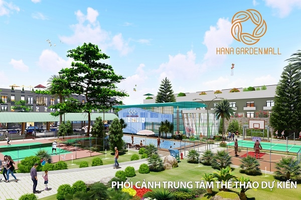 Phối cảnh trung tâm thể thao tại dự án khu phức hợp Hana Garden Mall