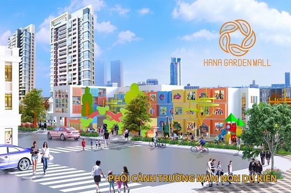 Phối cảnh trường mầm non tại dự án khu phức hợp Hana Garden Mall