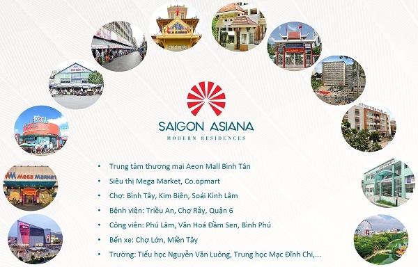 tiện tích ngoại khu Căn hộ Saigon Asiana Quận 6