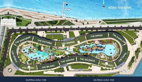 Mặt bằng tổng thể dự án căn hộ Sunshine Diamond River