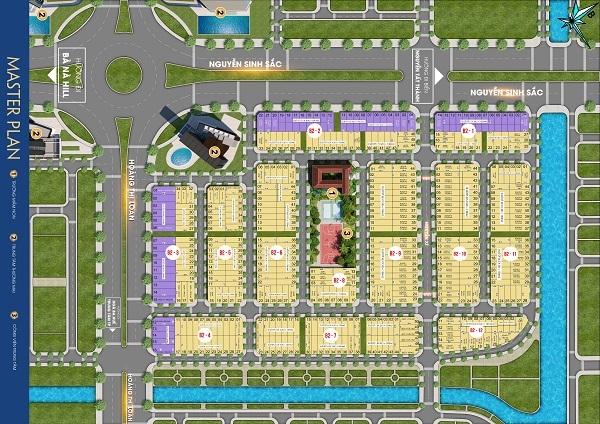 Mặt bằng tổng thể dự án tổ hợp nhà phố, thương mại Melody City
