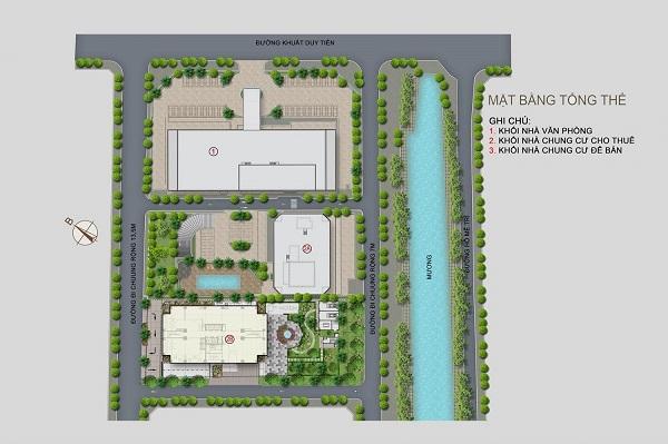 Mặt bằng tổng thể dự án tổ hợp căn hộ, văn phòng Vinata Tower