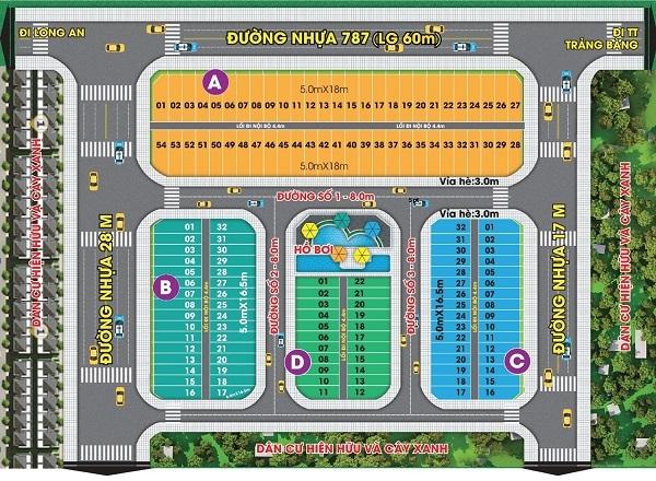 Mặt bằng phân lô dự án Mai Anh Mega Mall