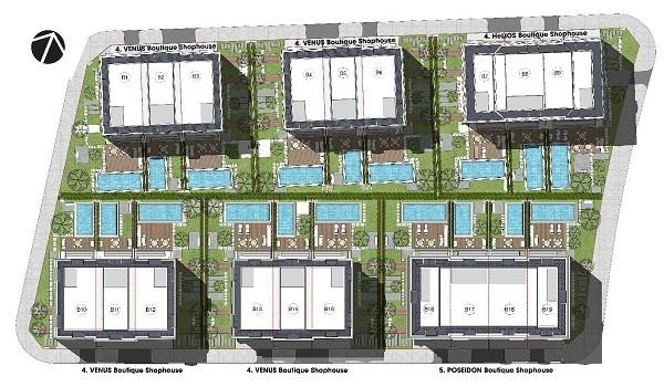 Mặt bằng phân khu tại dự án Villas Bãi Trường Riverside