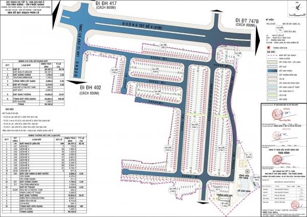 Mặt bằng phân khu dự án An Phát Luxury thuộc quy hoạch chi tiết tỷ lệ 1/500 khu nhà ở Thái Bình Dương – Tân Phước Khánh (tên thương mại: Tân Phước Khánh Village)