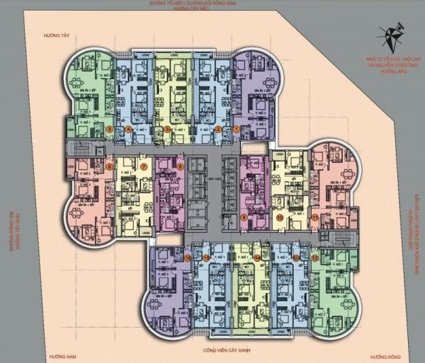 Mặt bằng tầng điển hình dự án tổ hợp thương mại, dịch vụ QMS Tower 2