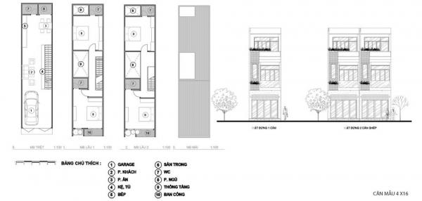 Mặt bằng thiết kế căn nhà phố thương mại liền kề tại dự án khu phức hợp Alva Plaza