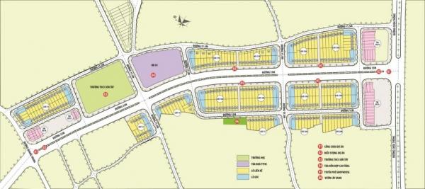 Mặt bằng tổng thể dự án khu đô thị HUD Sơn Tây