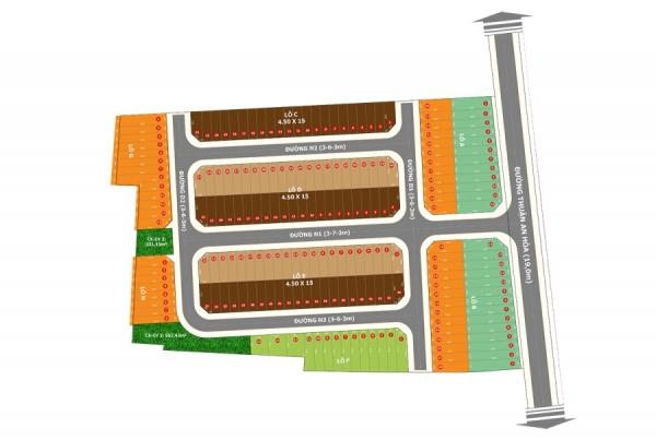 Mặt bằng phân lô dự án Thuận An Central