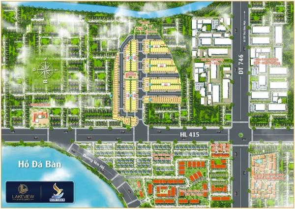 Mặt bằng tổng thể dự án đất nền Lakeview Bình Dương