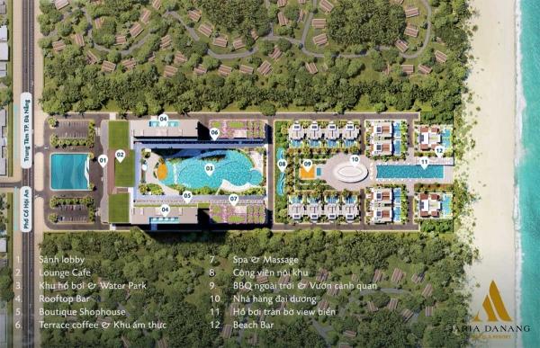 Tiện ích nội khu tổ hợp biệt thự, căn hộ condotel Aria Đà Nẵng
