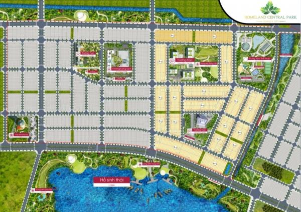 Mặt bằng tổng thể dự án khu đô thị Homeland Central Park