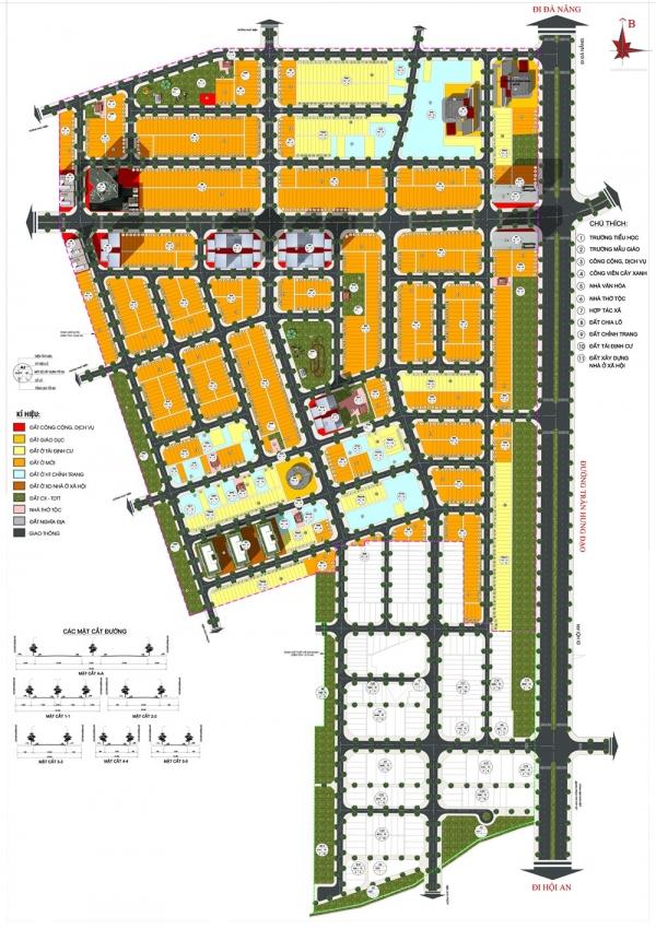 Mặt bằng tổng thể Khu đô thị Pride City Quảng Nam