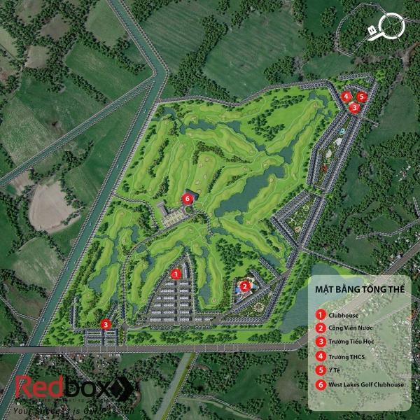 Mặt bằng tổng thể dự án West Lakes Golf & Villas