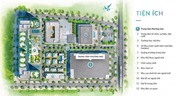 Mặt bằng tổng thể dự án căn hộ Mipec Rubik 360 Xuân Thủy
