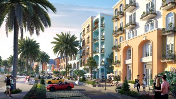 Phối cảnh nhà phố thương mại tại dự án Novaworld Phan Thiết