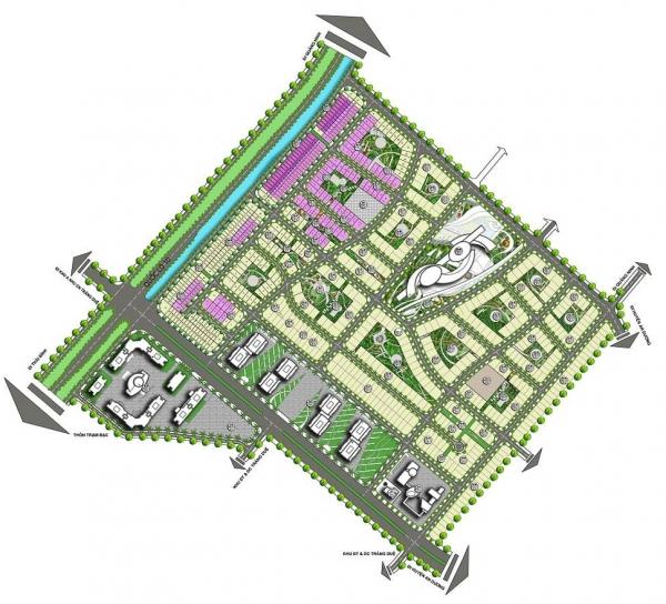 Mặt bằng tổng thể dự án khu đô thị Tràng Duệ - Seoul Eco Home