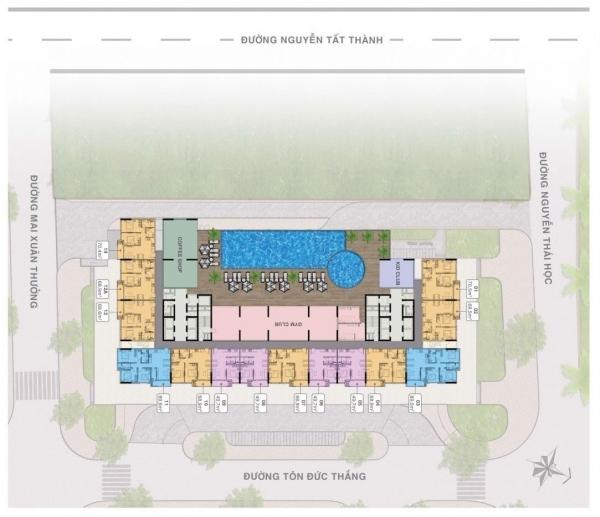 Mặt bằng điển hình tầng 5 tại dự án Grand Center Quy Nhơn