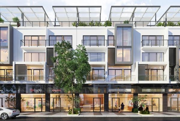 Phối cảnh các căn nhà phố tại dự án Rich Town An Phú Bình Dương