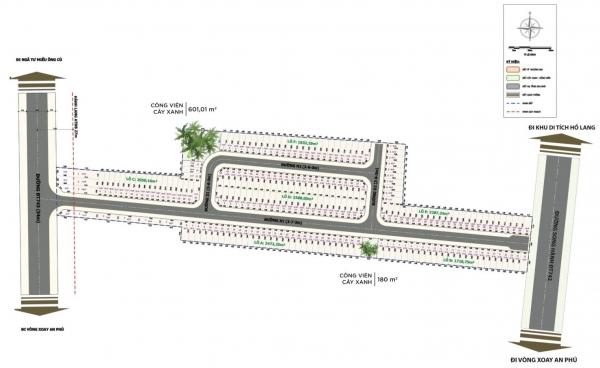 Sơ đồ phân lô dự án đất nền nhà phố Rich Town An Phú Bình Dương