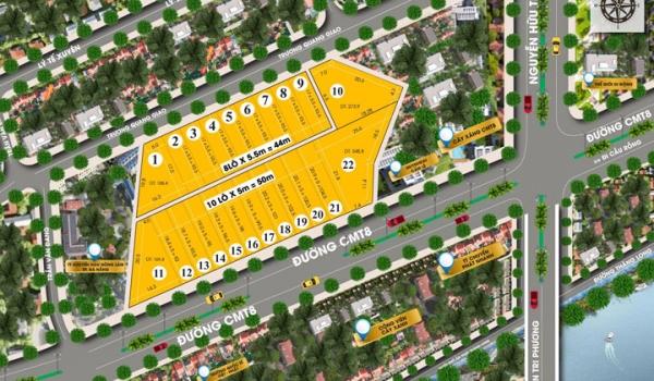 Mặt bằng tổng thể dự án Đà Nẵng New Center