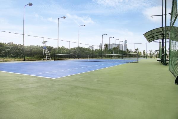 Ảnh thực tế sân tennis tại dự án căn hộ New City Thủ Thiêm
