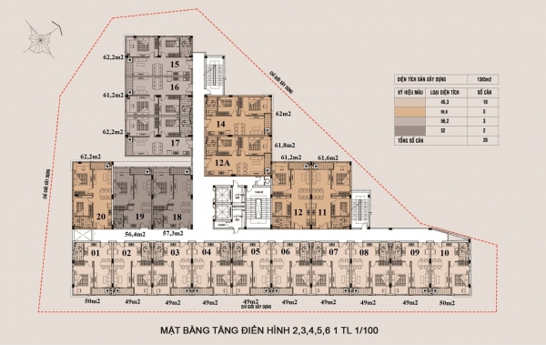 Mặt bằng tổng thể căn hộ Thuận Giao Phát Thuận An