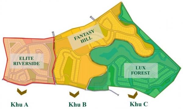 Mặt bằng khu du lịch nghỉ dưỡng Legacy Hill Hòa Bình
