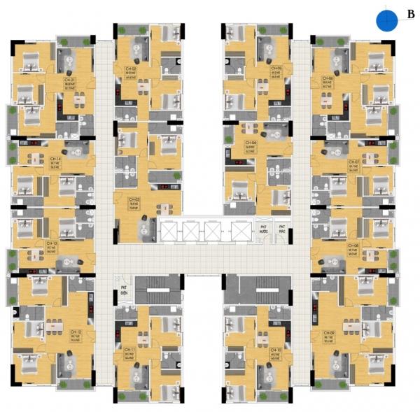 Mặt bằng căn hộ Tecco Phúc Thịnh Nghệ An