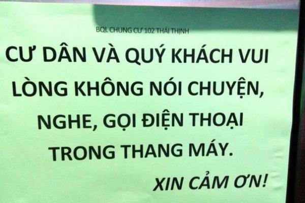 Chung cư Hà Nội cấm nói chuyện, gọi điện trong thang máy phòng dịch virus corona