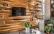8 mẫu gỗ ốp tường phòng khách đẹp hiện nay